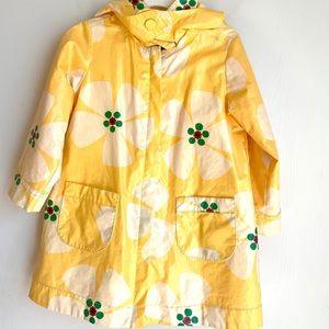 Cute bright yellow raincoat